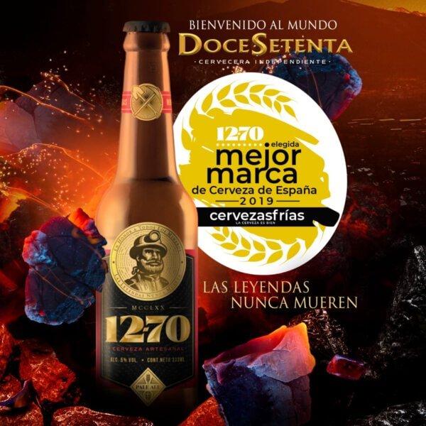 Doce Setenta mejor marca de Cerveza de España