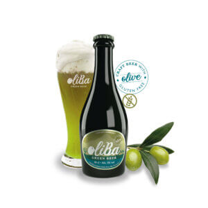 OLIBA GREEN BEER MEDITERRANEAN DRINK FROM THE PYRENEES CAJA DE 12 UNIDADES
