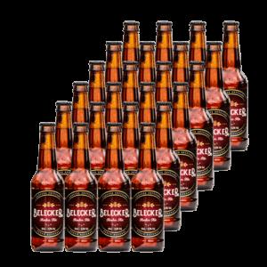 Belecker Amber Ale Craft Beer Cerveza Artesanal del Bierzo caja de 24 botellas
